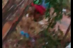 Indian filly aunty peeing outdoor-1