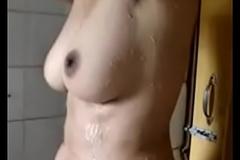 College girl hot bath