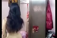 Desi girl removing her dress
