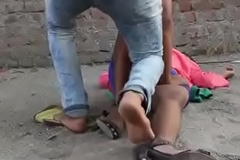 Outdoor sex forcefully