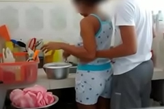 Indian Fellow-creature Sister bonking in Kitchen