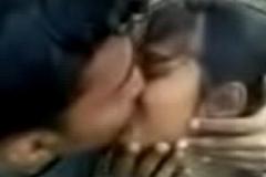 Sexy Alfresco Kissing