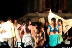 Public desi Telugu natukatti featuring sandbank randis nude on stage