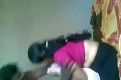 Mama fuck in pink saree coupled with blouse