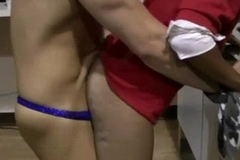 Indian cfnm amateur fucked at office
