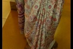 Wear and Jizz here Satin silk saree of neighbor 2