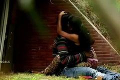 Indian Couple Boob Press &amp_ Fuck In Park
