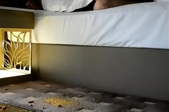 Desi Wife Pankhuri Teases her Ass to Room Cleaning Guy in Hotel Fun with Hubby