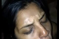 Desi girl taking cum attempt in mouth