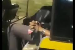 College girl literally sucking detect in transit