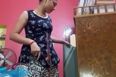 Yet another hot video of desi teen girl giving a strip show for xxxvdos.pw fans