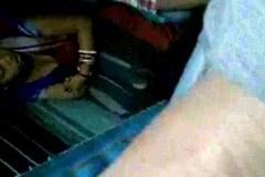 Hot Bengali Aunty Exposing Boobs Through Black Bra In Train