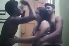 Indina aunty dancing with duo boys