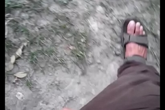 Outdoor Indian Cock jerk and two shakes of a lamb's tail