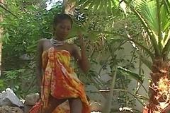 Stunning blackguardly pornstar India gets naked