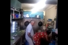 indian tramp made quicky with maid at home