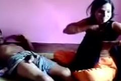 Indian village teen Sangeetha enjoyed by sob sister