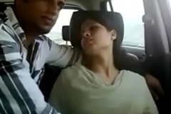 Indian couple gets naughty on touching car