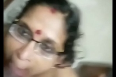 Mature mallu mom giving blowjob and taking cum in mouth
