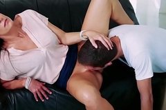 India Summers pussy feeds Dylan Put one over on as she spread her legs!